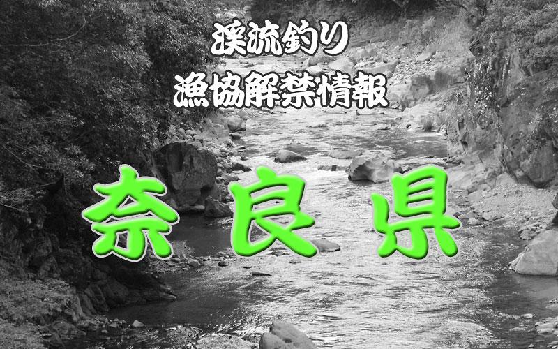 奈良 渓流釣り解禁