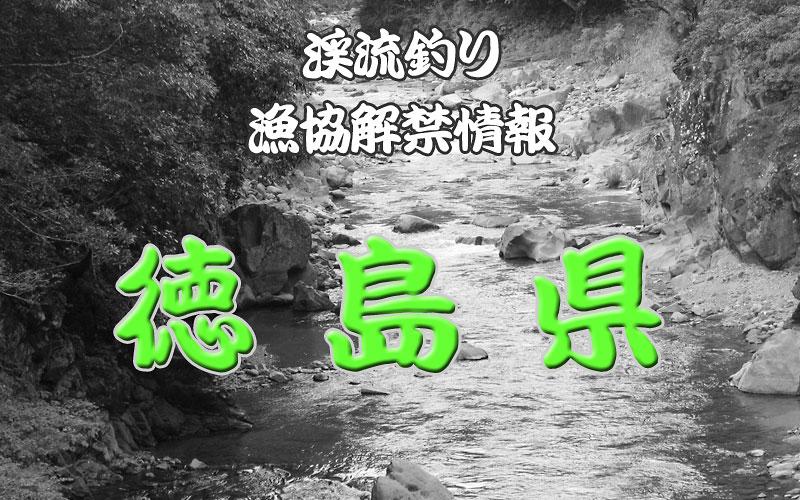 徳島県 渓流釣り解禁