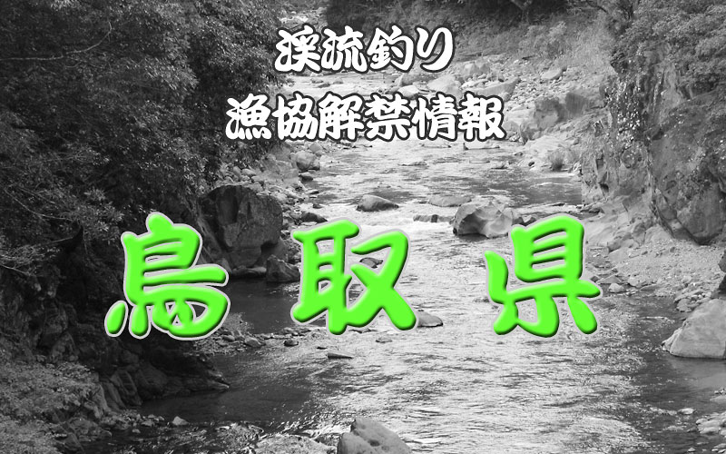 鳥取県 渓流釣り解禁