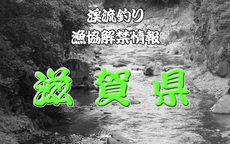 滋賀県 渓流釣り解禁