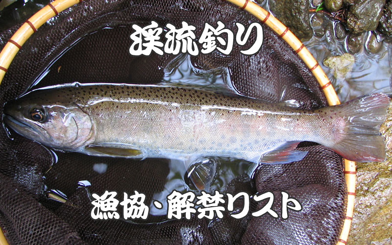 渓流釣り漁協・解禁リスト
